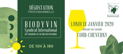 Dégustation professionnelle Biodyvin - Cour-Cheverny 2020